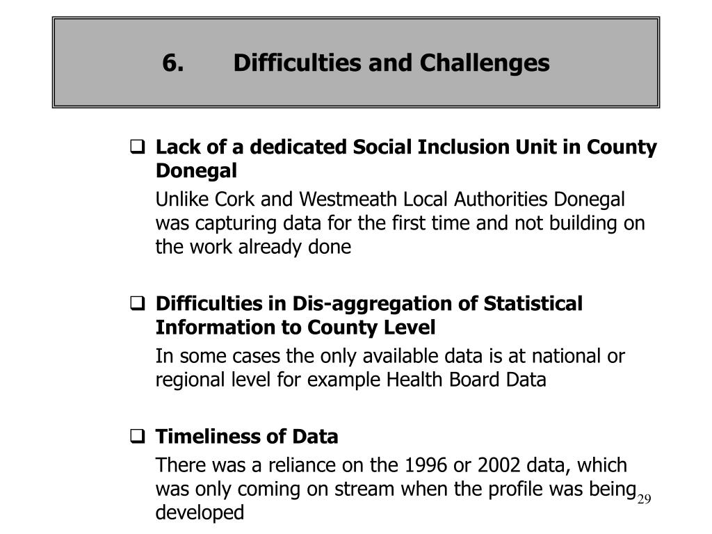 Lack of a dedicated Social Inclusion Unit in County Donegal