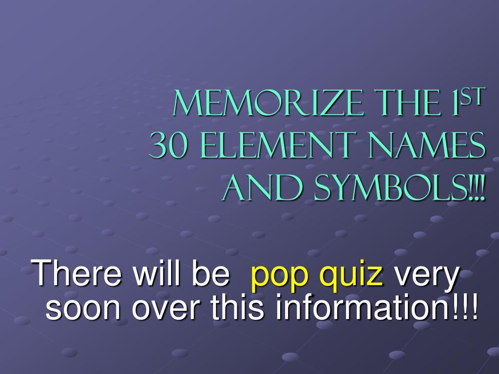 Memorize the 1