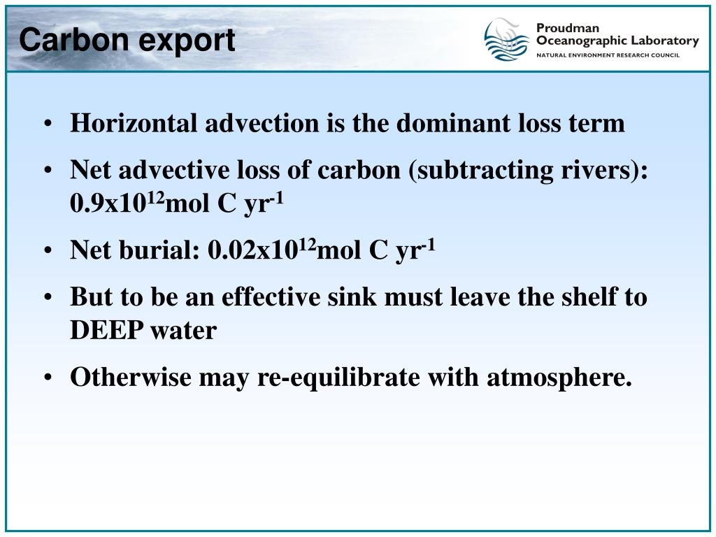 Carbon export