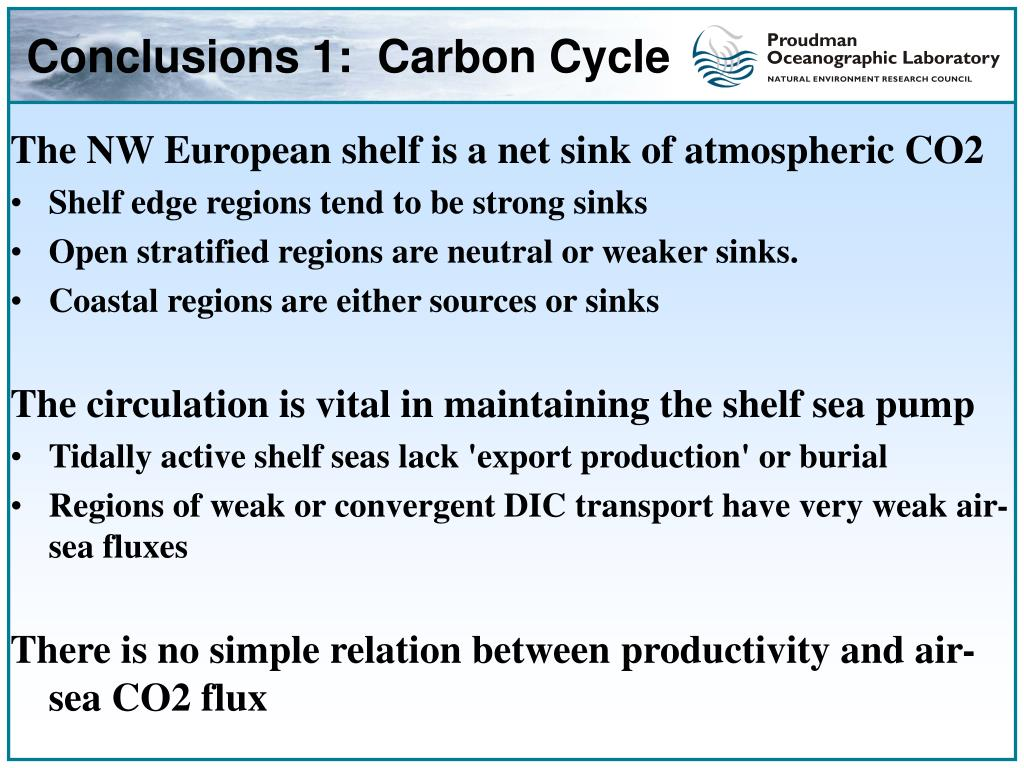 Conclusions 1:  Carbon Cycle