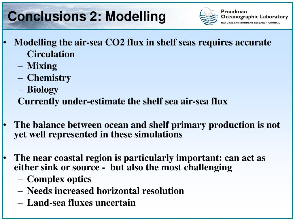 Conclusions 2: Modelling