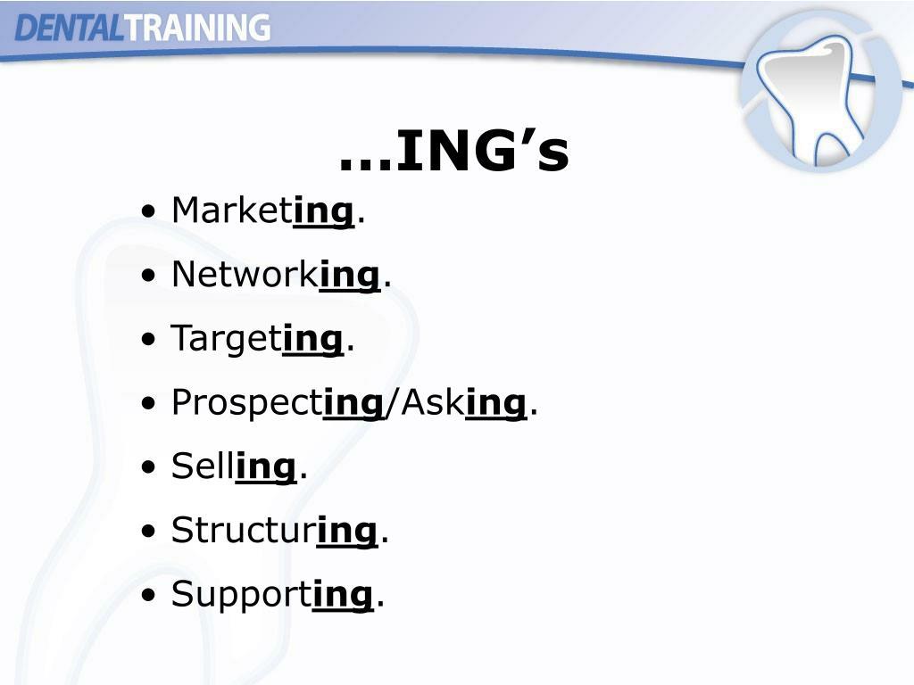 …ING's