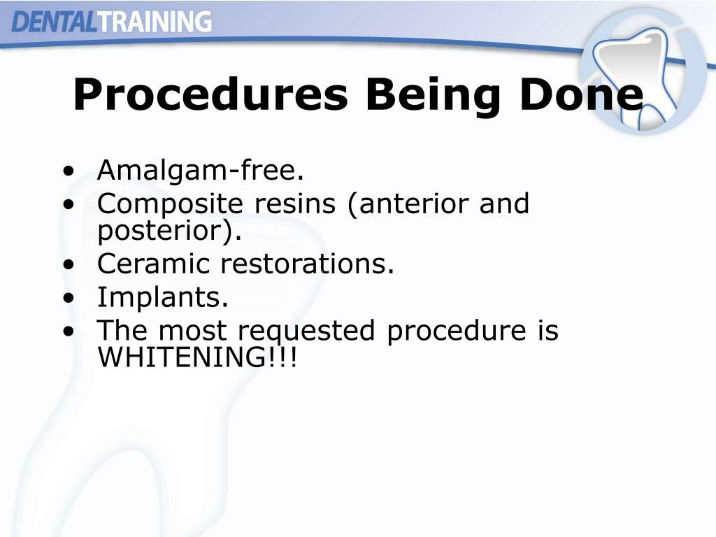 Procedures Being Done