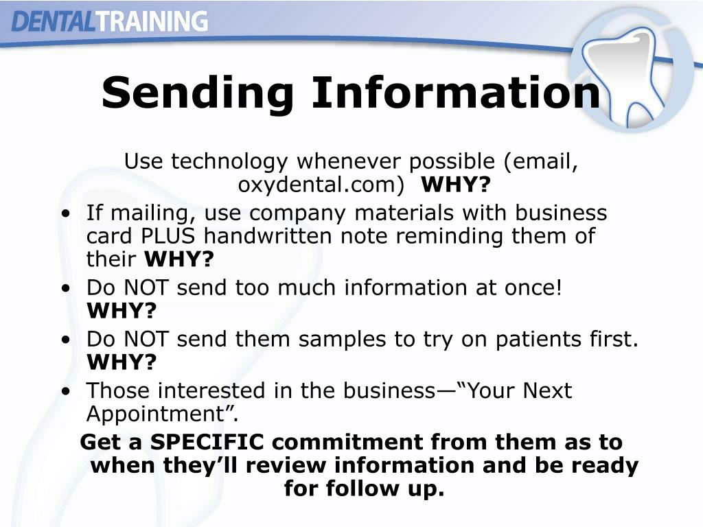 Sending Information