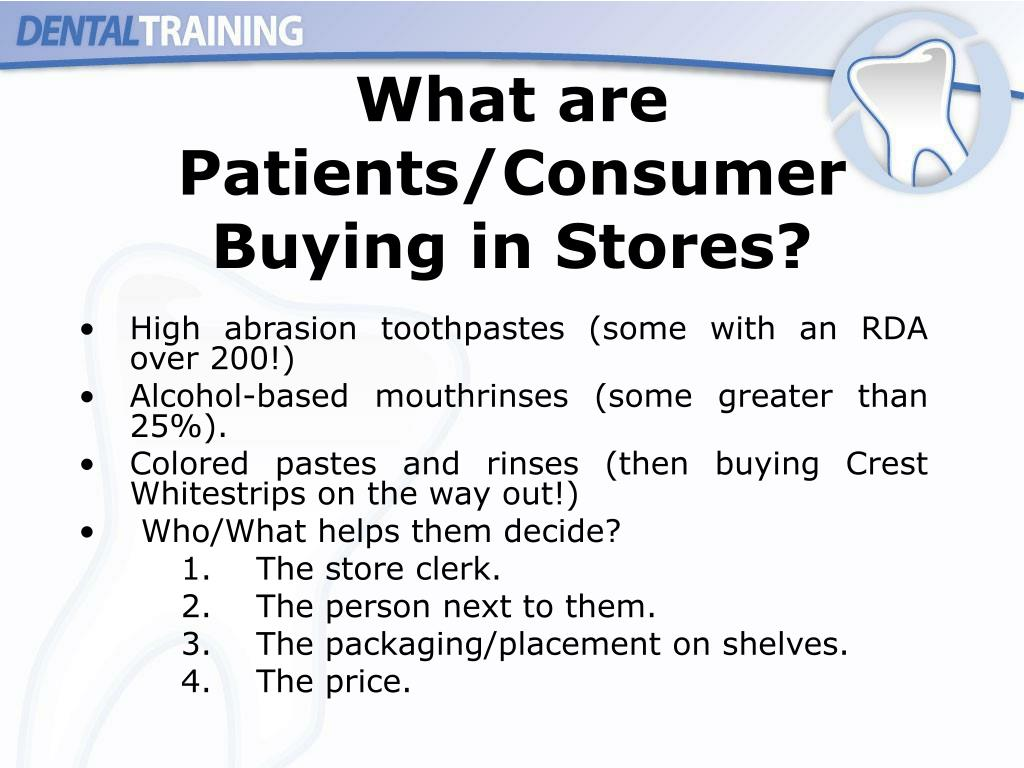What are Patients/Consumer Buying in Stores?