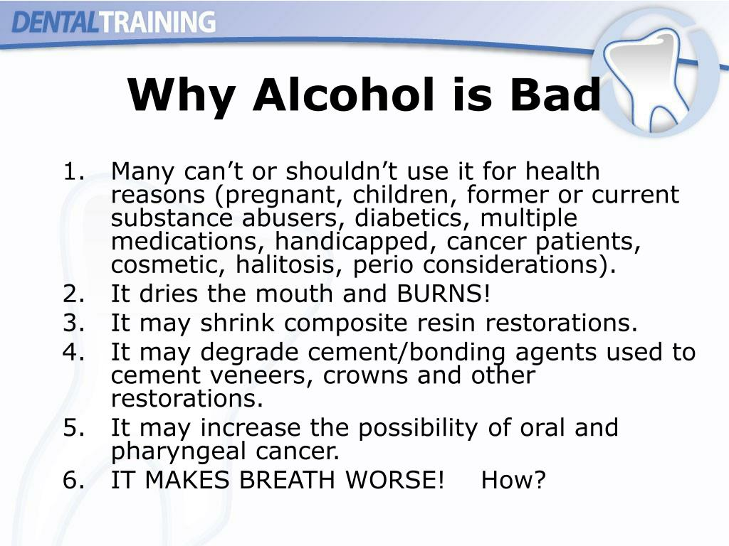 Why Alcohol is Bad