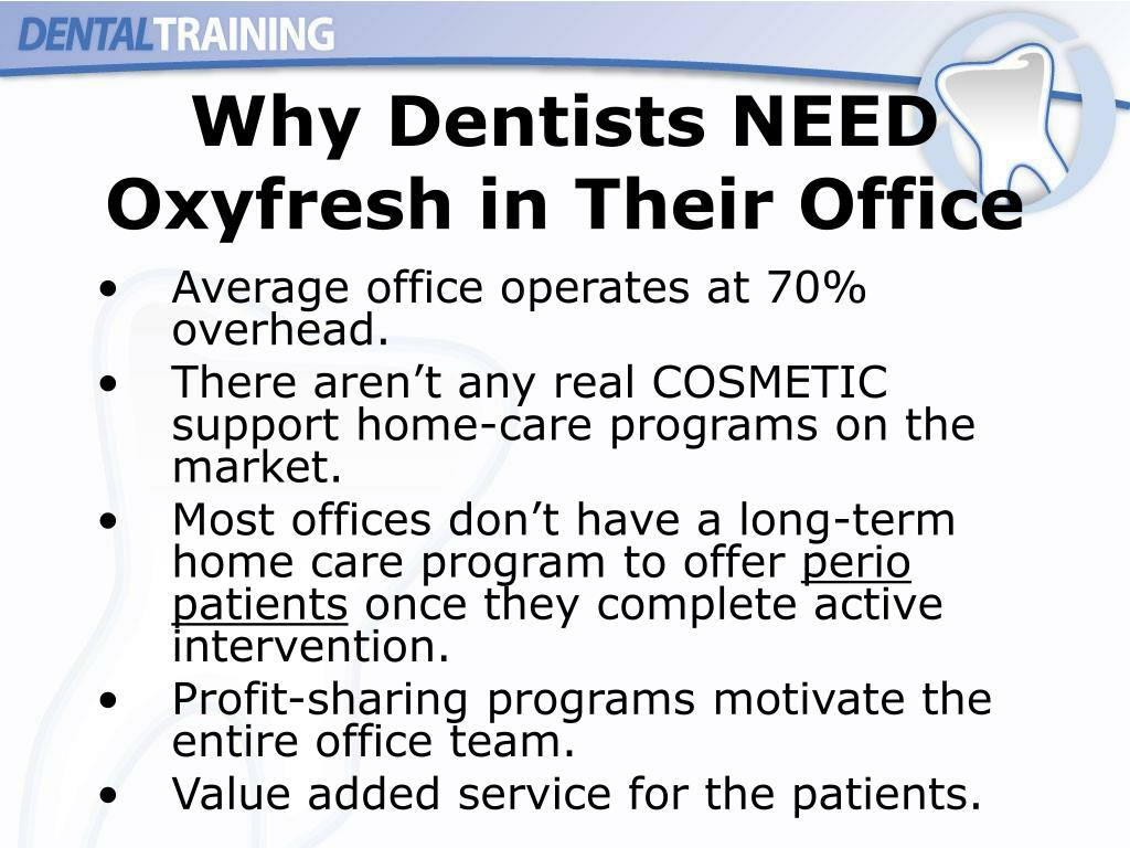 Why Dentists NEED