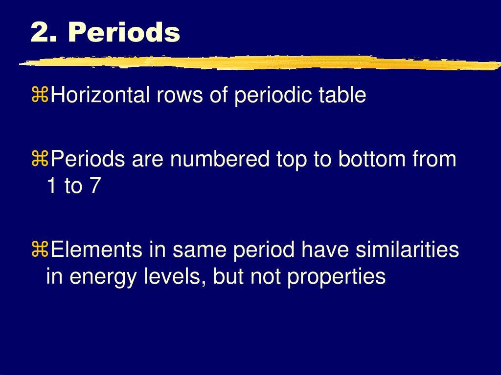 2. Periods
