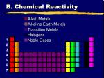 b chemical reactivity