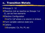 c transition metals