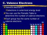 c valence electrons22