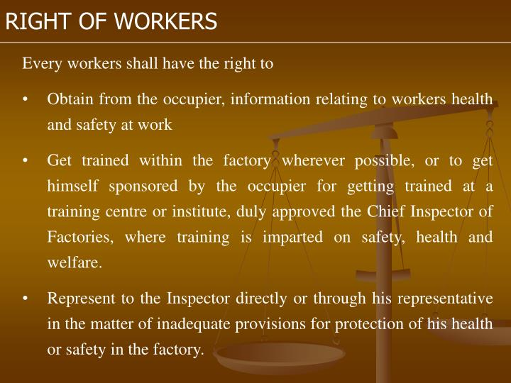 RIGHT OF WORKERS