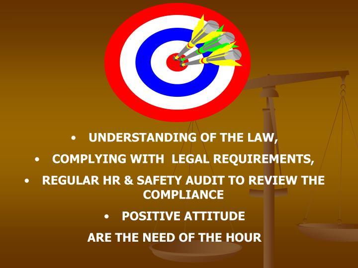 UNDERSTANDING OF THE LAW,
