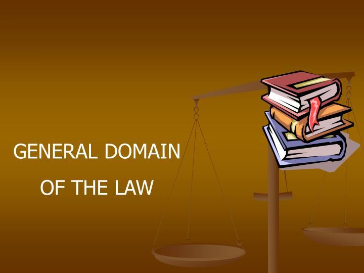 GENERAL DOMAIN