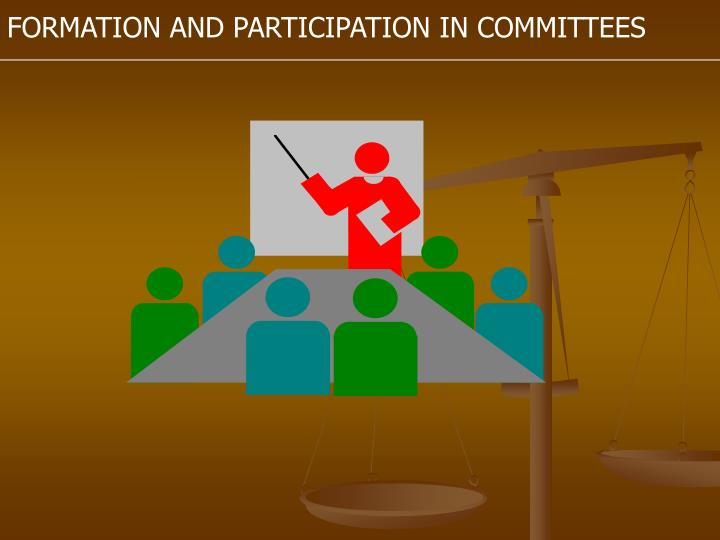 FORMATION AND PARTICIPATION IN COMMITTEES