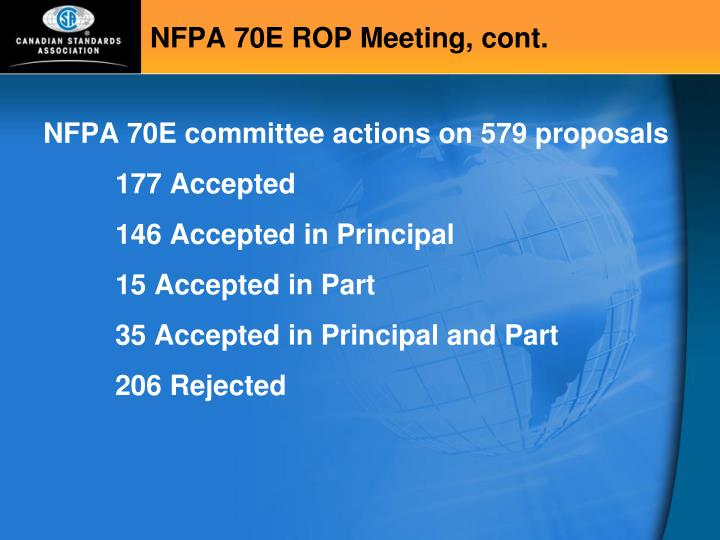 Nfpa 70e rop meeting cont