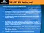 nfpa 70e rop meeting cont4