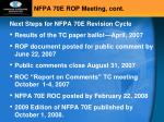 nfpa 70e rop meeting cont6