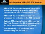 sc2 report on nfpa 70e rop meeting