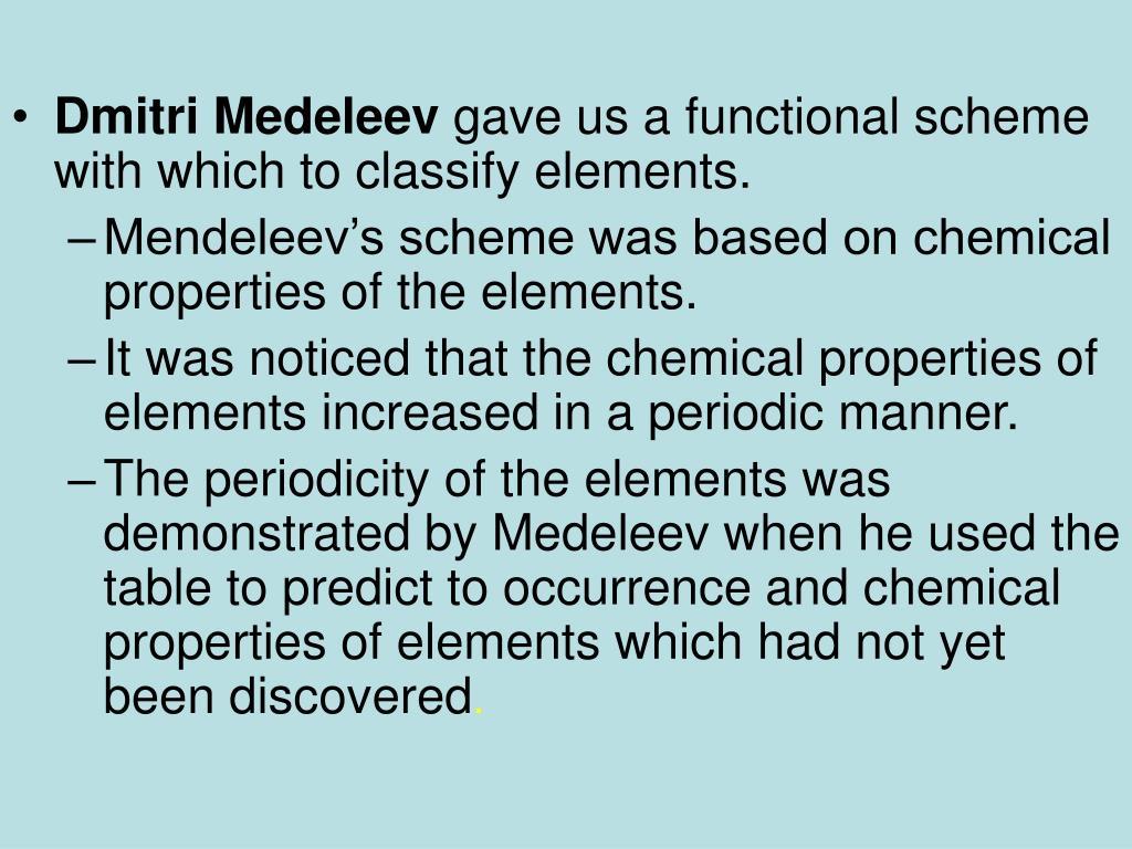 Dmitri Medeleev