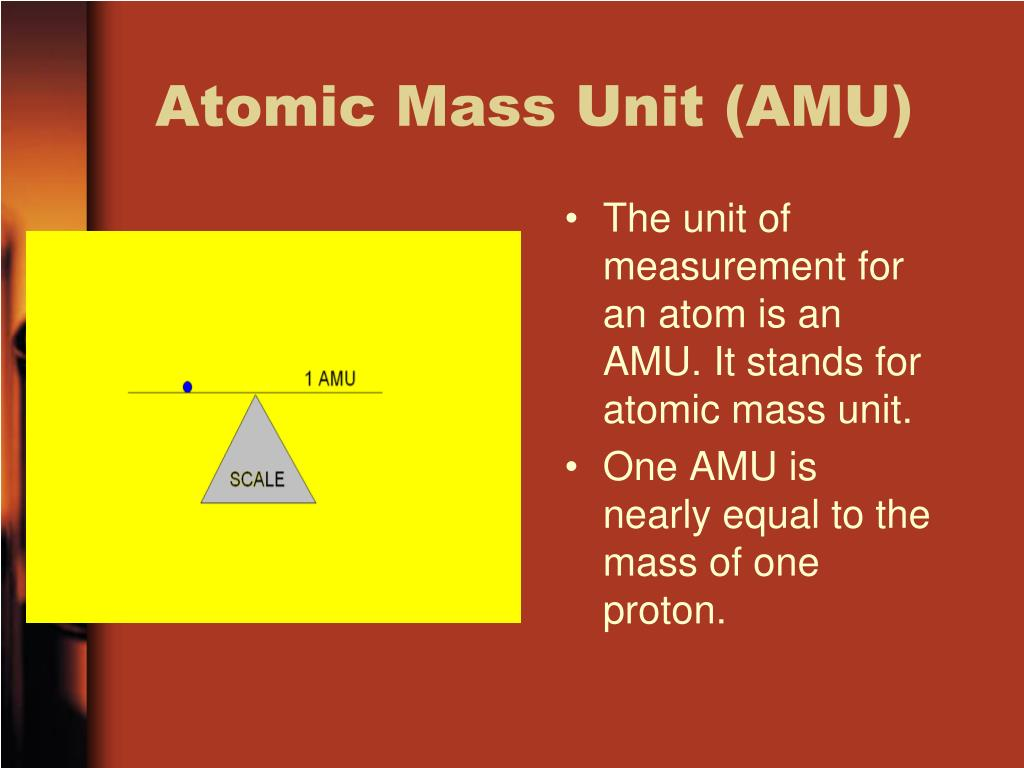 Atomic Mass Unit (AMU)