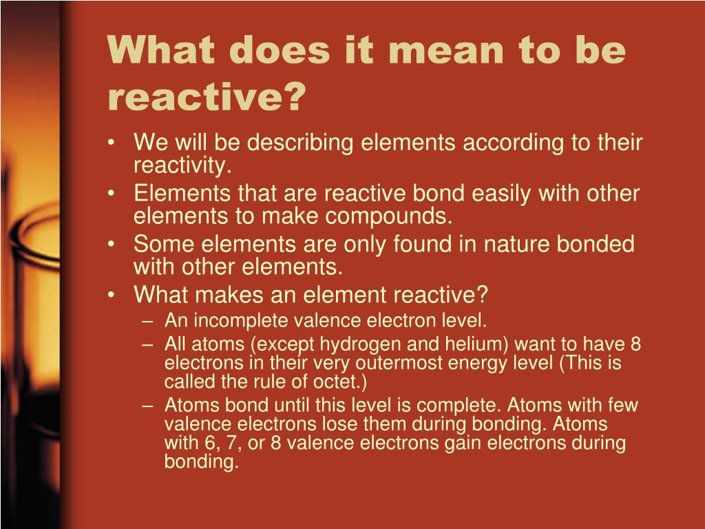 What does it mean to be reactive?