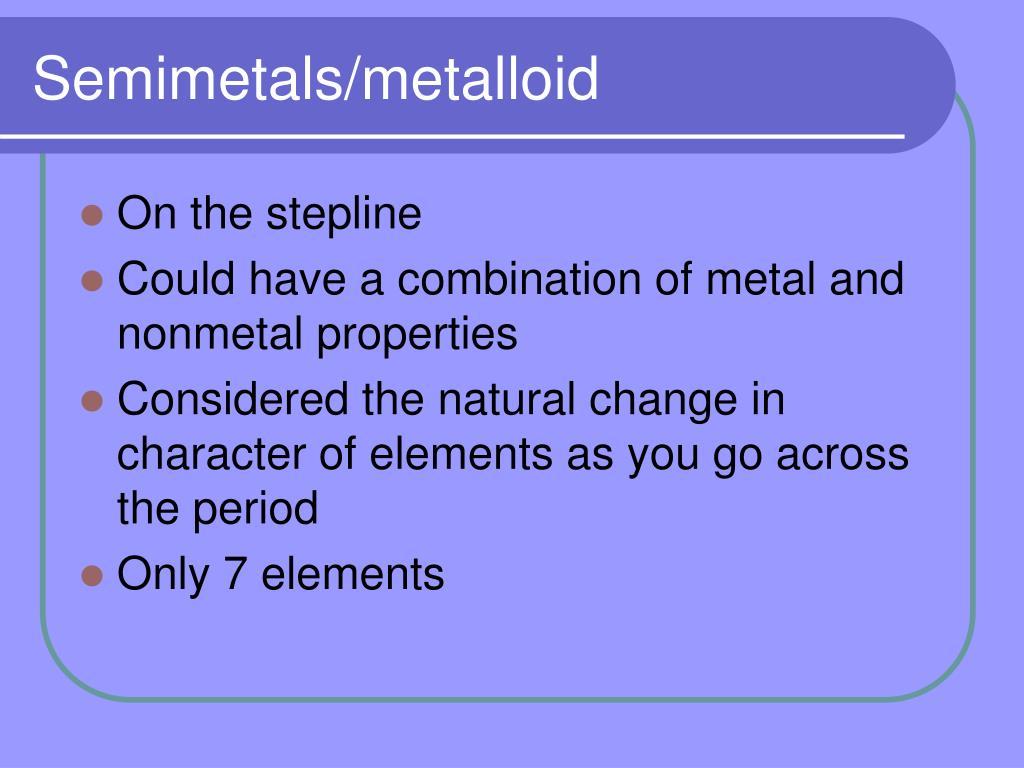 Semimetals/metalloid