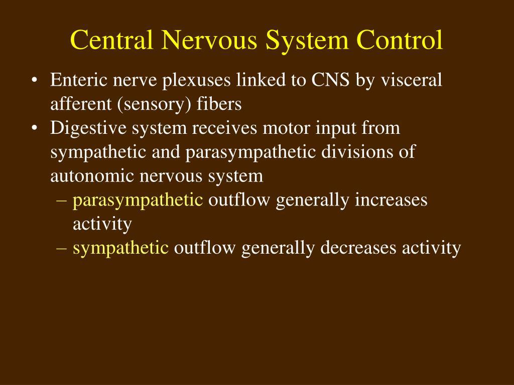 Central Nervous System Control