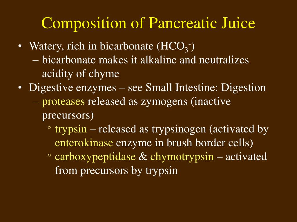 Composition of Pancreatic Juice