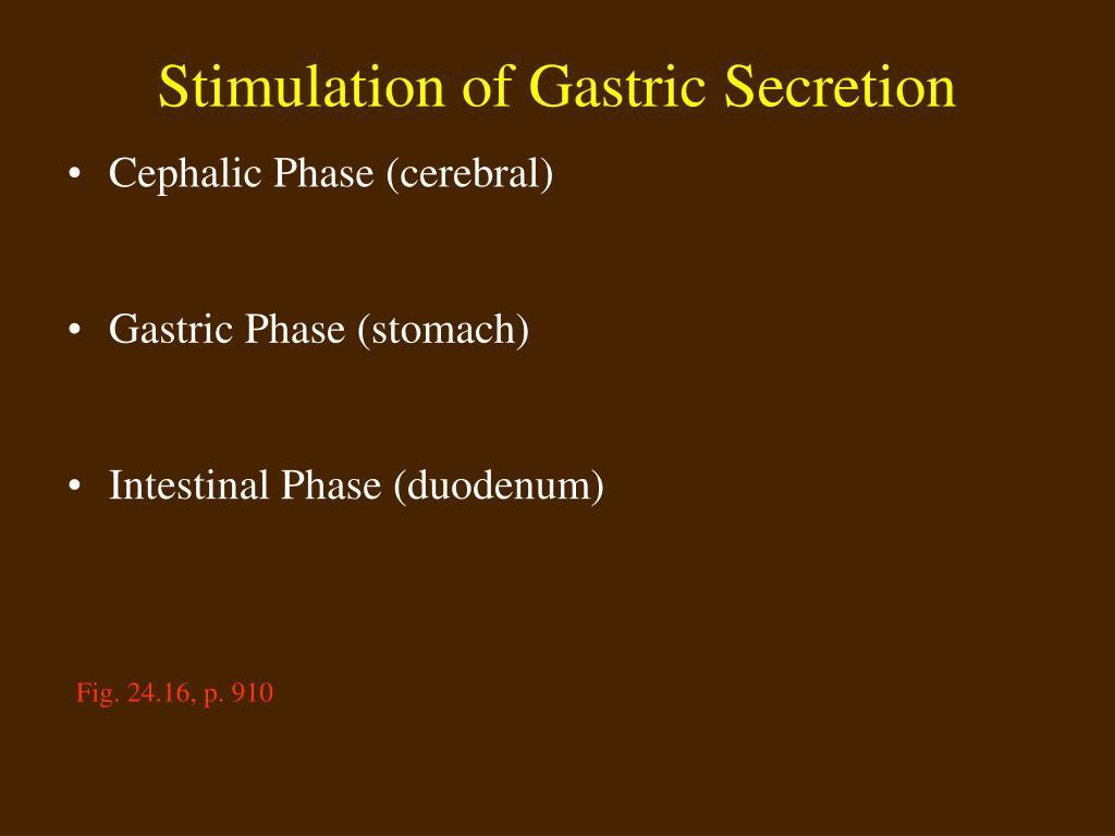Stimulation of Gastric Secretion