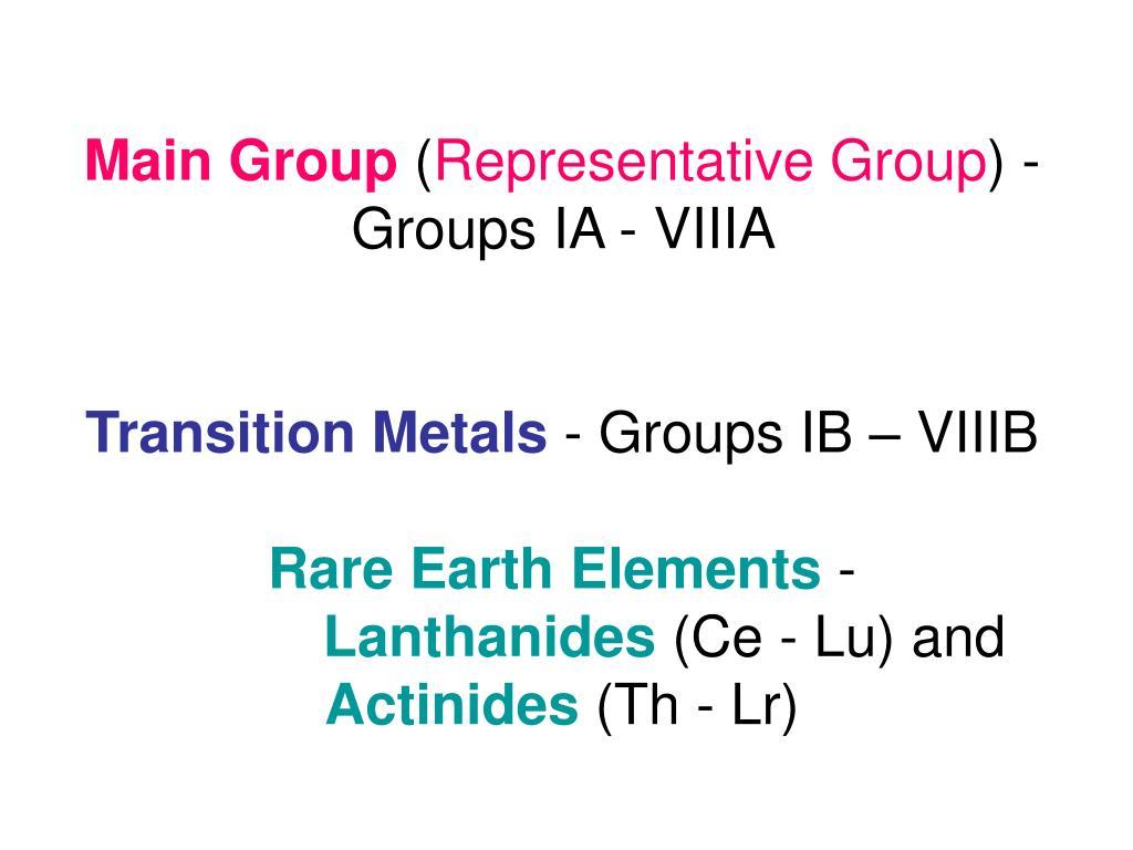 Main Group