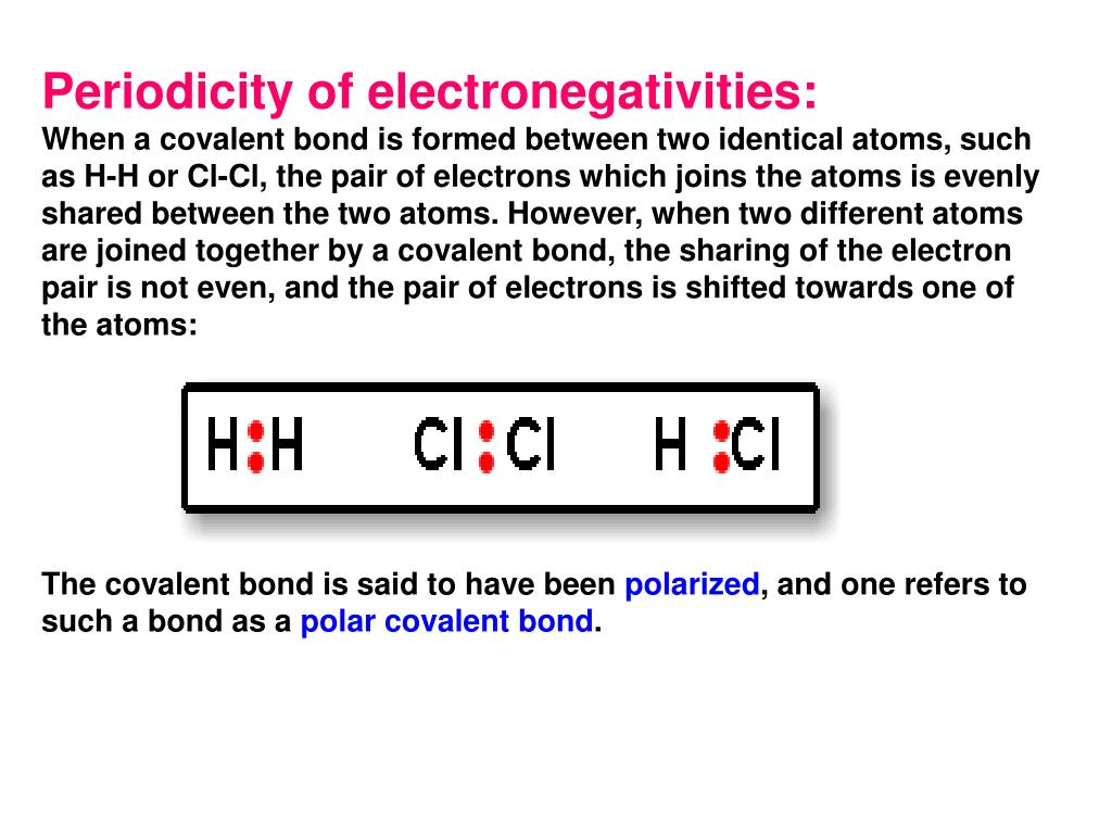 Periodicity of electronegativities: