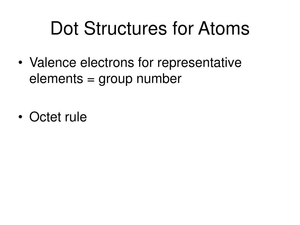 Dot Structures for Atoms
