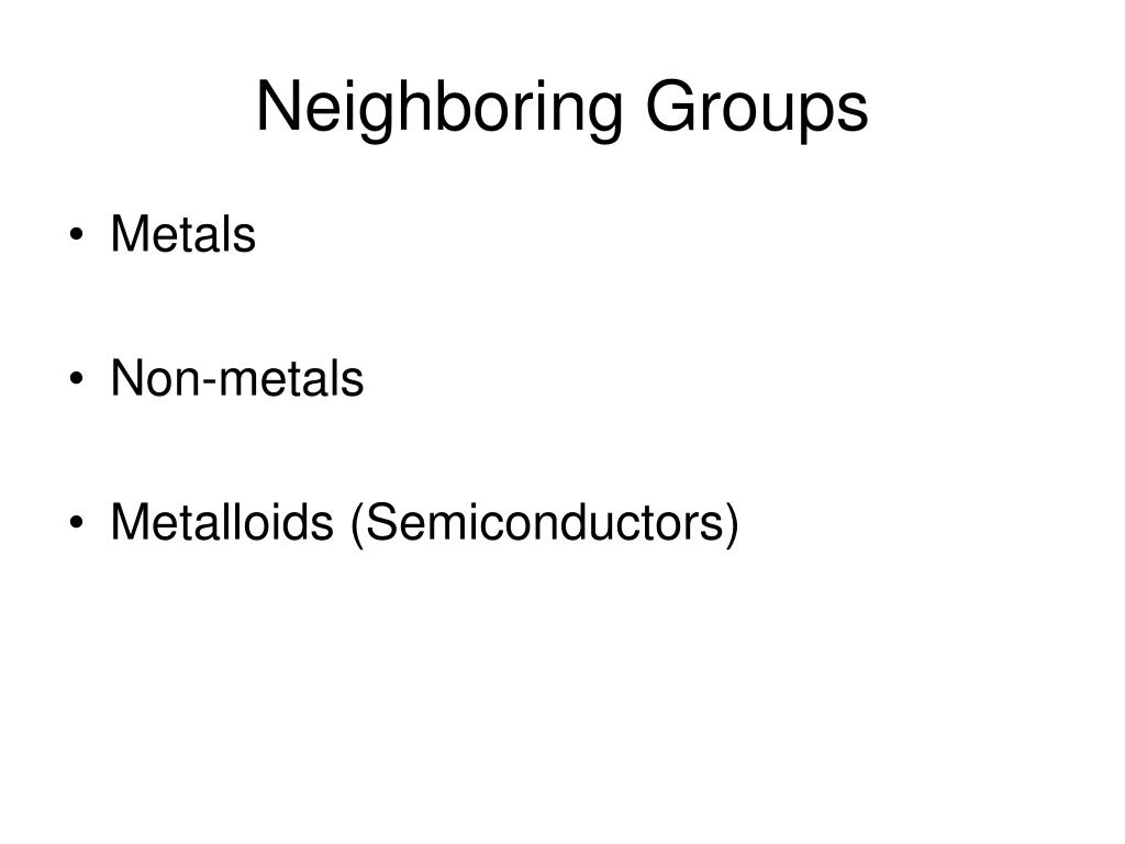 Neighboring Groups
