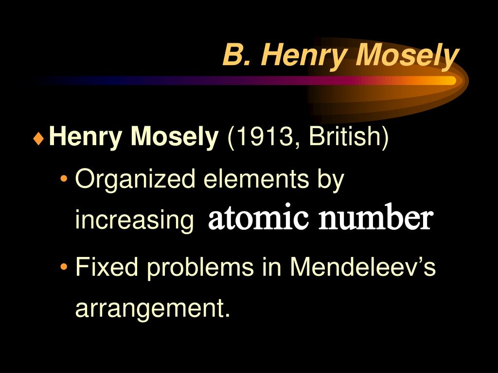 B. Henry Mosely