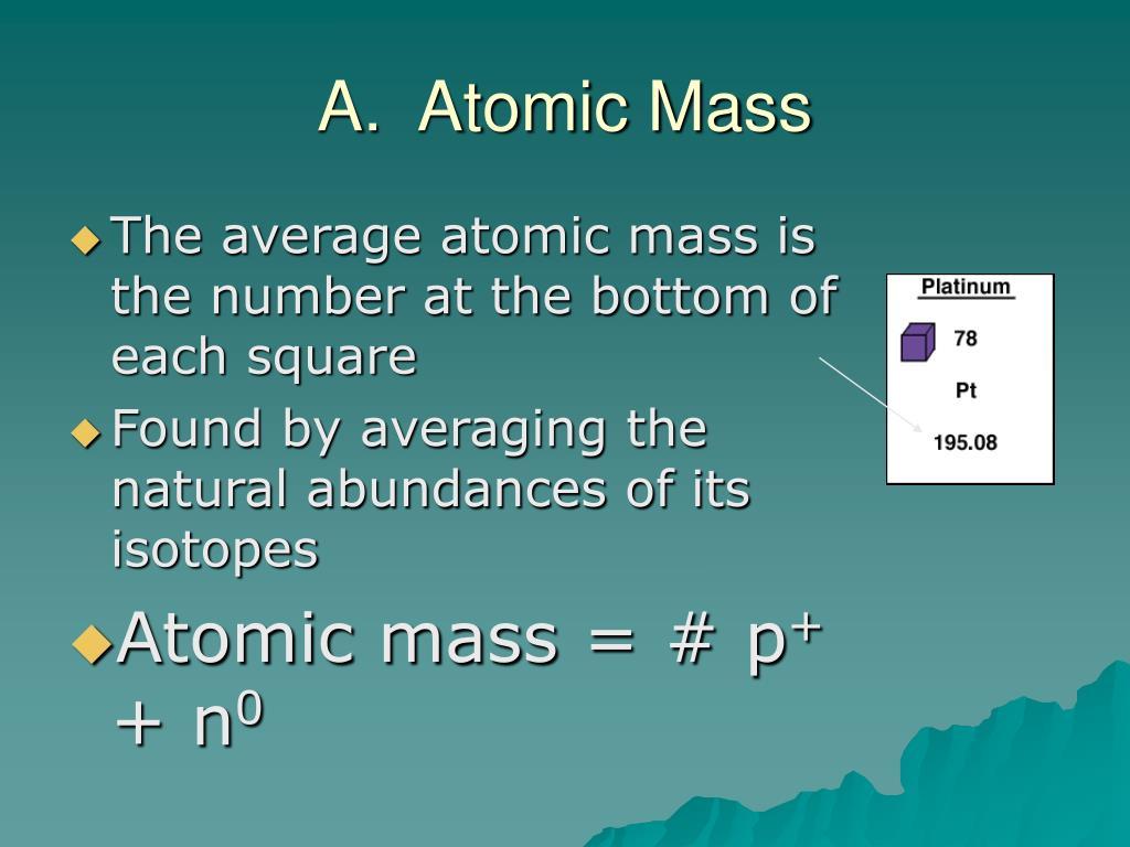 A.  Atomic Mass