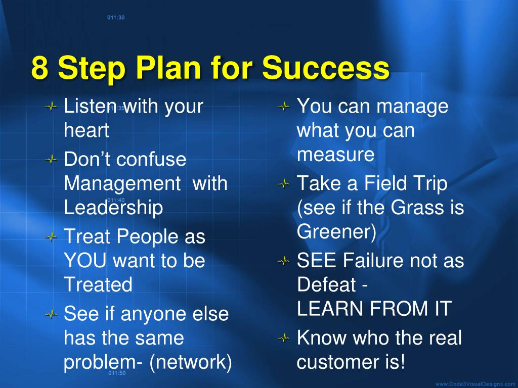 8 Step Plan for Success