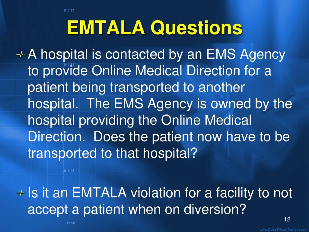 EMTALA Questions