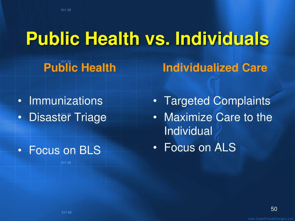 Public Health vs. Individuals