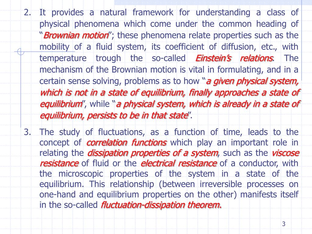 It provides a natural framework for understanding a class of physical phenomena which come under the common heading of ""