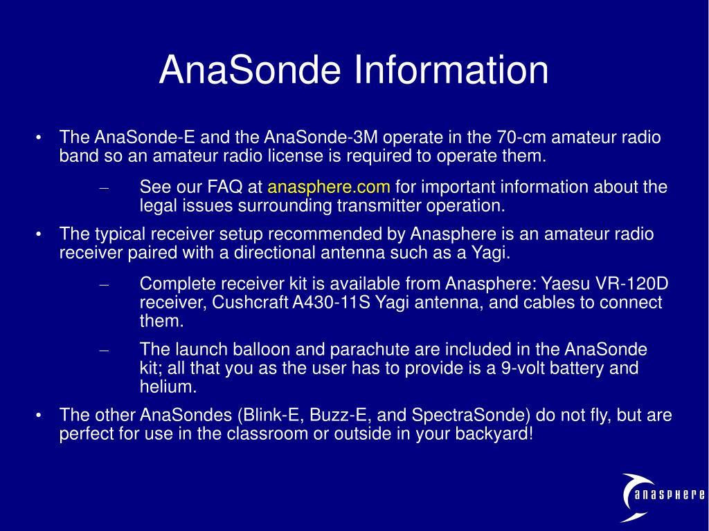 AnaSonde Information