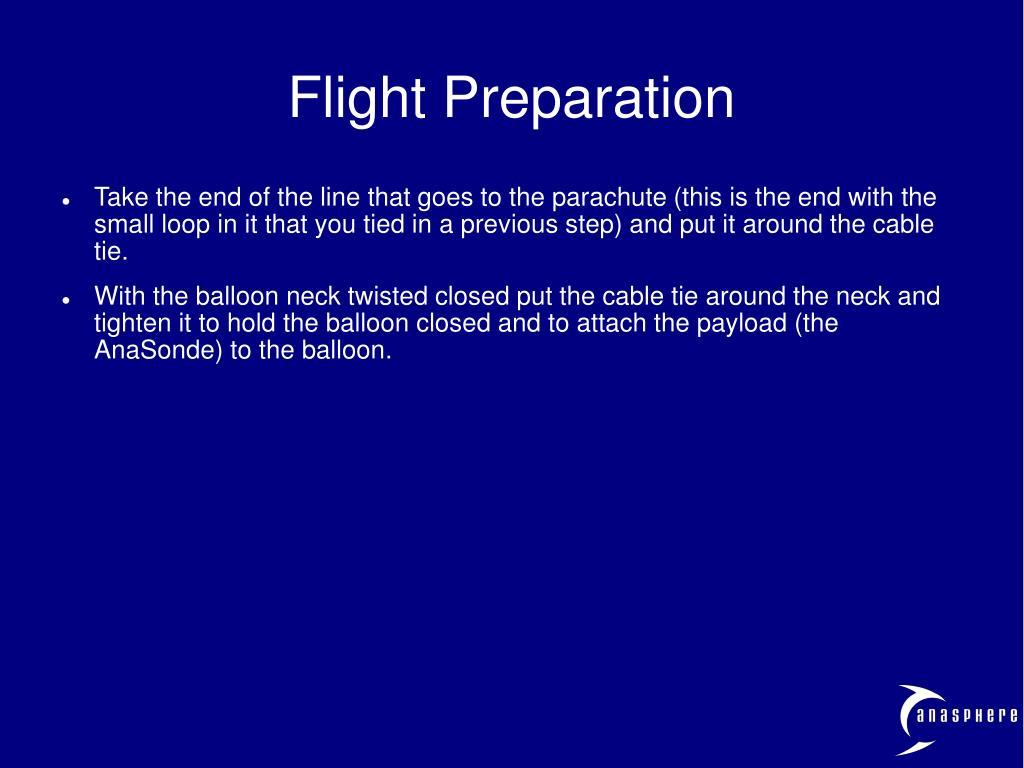 Flight Preparation