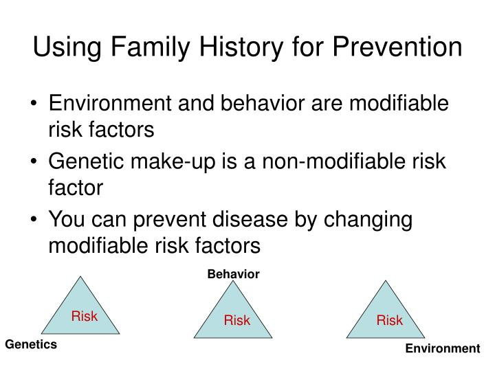 Using Family History for Prevention
