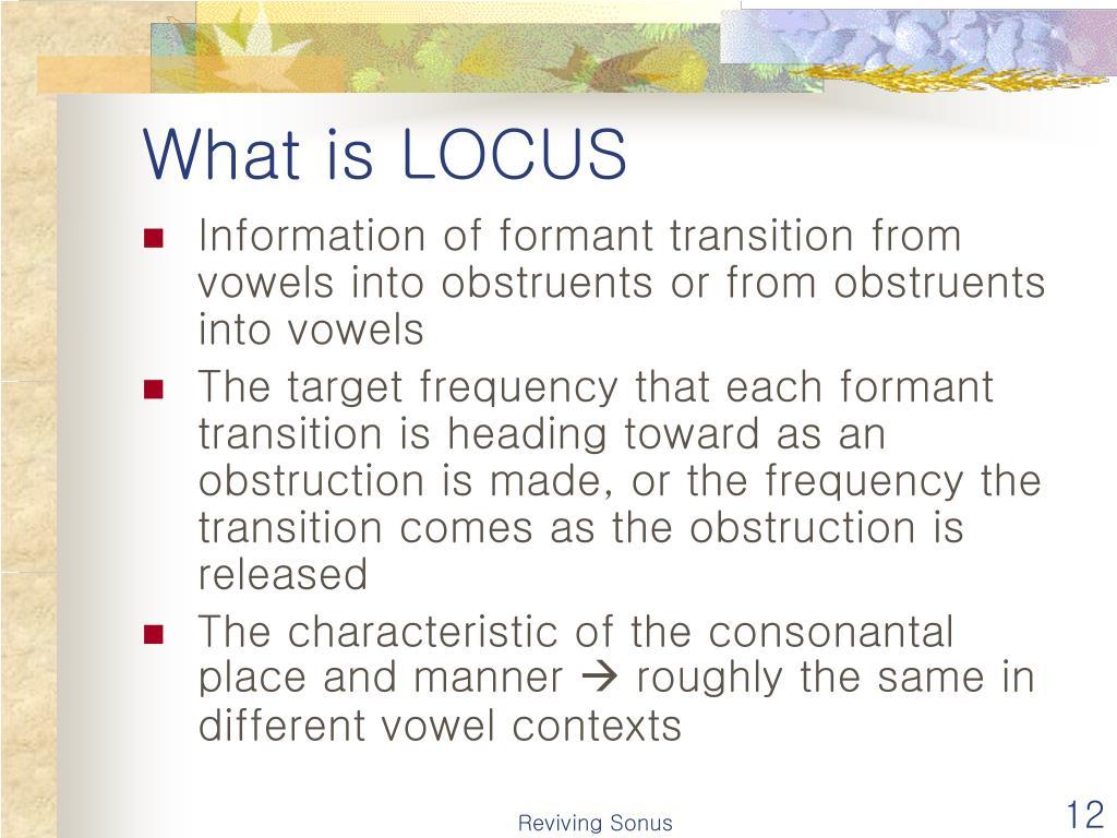 What is LOCUS