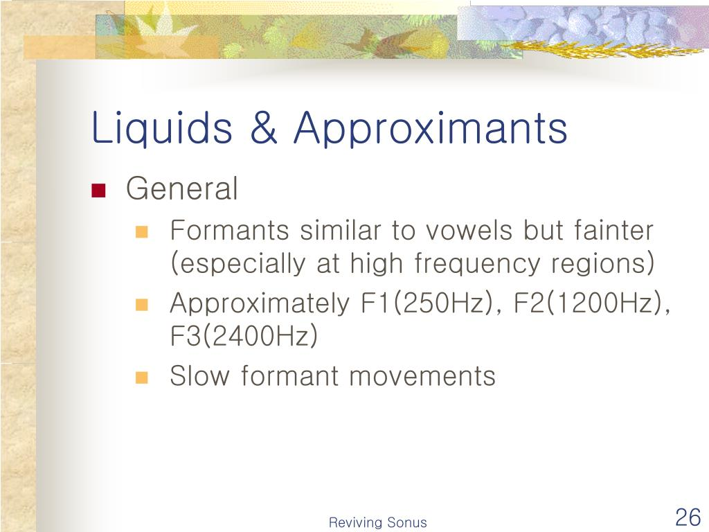 Liquids & Approximants