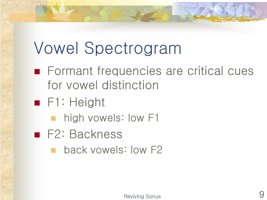Vowel Spectrogram