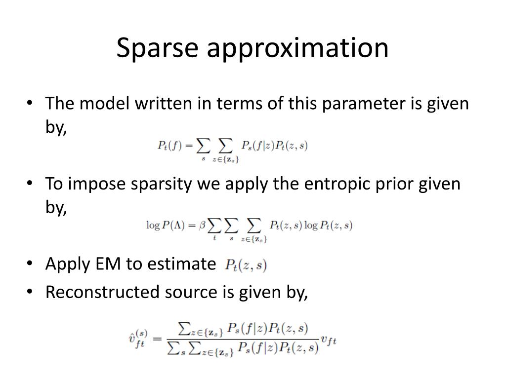 Sparse approximation