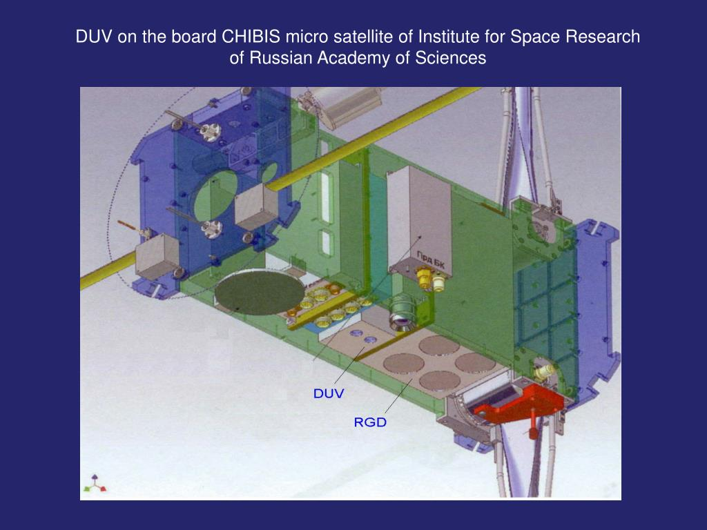 DUV on the board CHIBIS micro satellite of Institute for Space Research