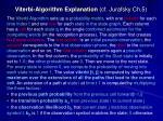 viterbi algorithm explanation cf jurafsky ch 5