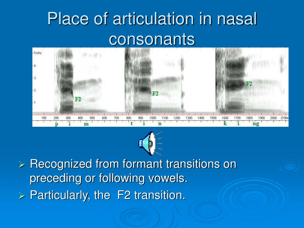 Place of articulation in nasal consonants